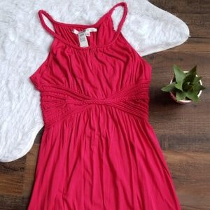 Max Studio XL Pink Braided Maxi Dress EUC
